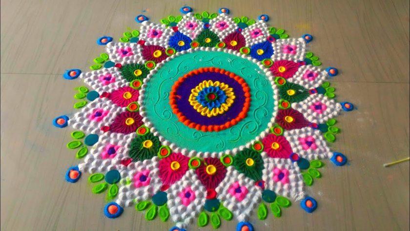 Beautiful and lovely Rangoli Design For Diwali