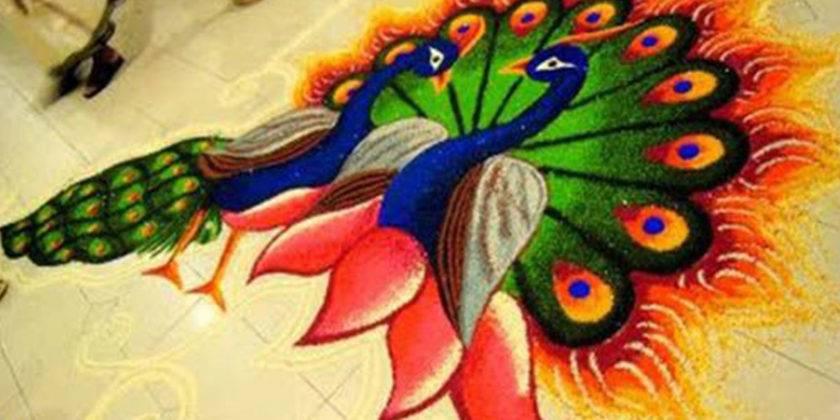 Easy and Beautiful Rangoli Design For Diwali